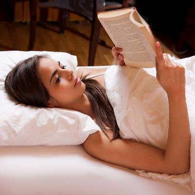 Woman read book - Aden and Anais