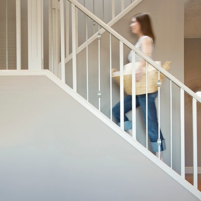 Woman climbing stairs - Aden and Anais