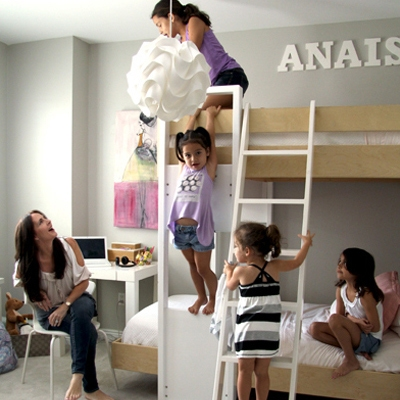 children playing in their room