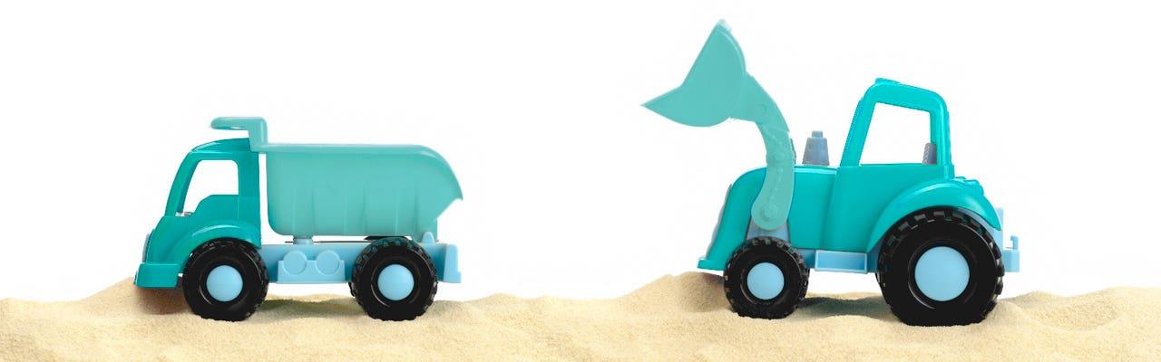Truck toys - Aden and Anais